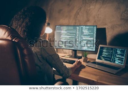 Szoftver fejlesztő programozós dolgozik adat javulás Stock fotó © snowing
