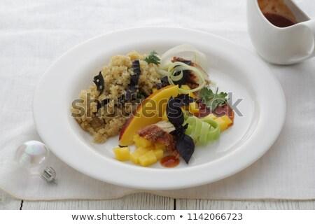 Insalata affumicato anguilla pesce salsa cena Foto d'archivio © fanfo