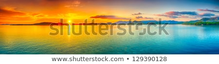 Panoramic view of a sky at sunset time Stock photo © moses