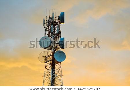 Cielo teléfono azul móviles comunicación digital Foto stock © deyangeorgiev