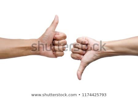 Kézmozdulat hüvelykujj lefelé művészet vektor kéz Stock fotó © Hermione