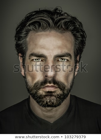Handsome masculine man face Stock photo © lovleah
