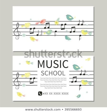ストックフォト: ベクトル · フローラル · ミュージカル · バイオリン · 黒白 · 色