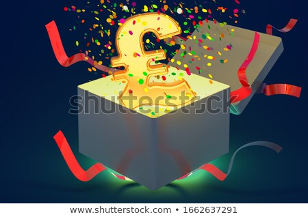 Opened gift box with with the sterling pound symbol inside Stock photo © Pixelchaos