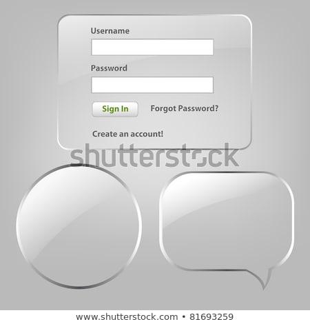 Szkła login hasło Internetu streszczenie projektu Zdjęcia stock © barbaliss