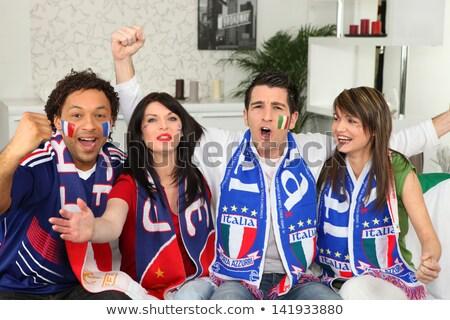 italiano · fútbol · ventilador · sonrisa · cara · fútbol - foto stock © photography33