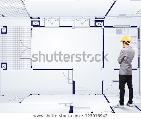 Builder looking at a technical drawing Stock photo © photography33
