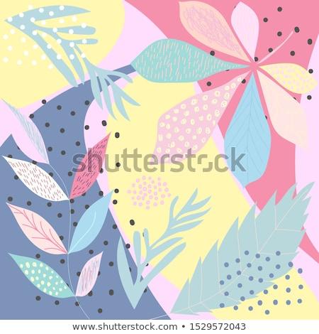 аннотация · дерево · цветы · иллюстрация · весенние · цветы · весны - Сток-фото © BarbaRie