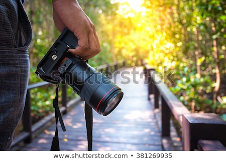 Man dslr camera digitale studio persoon Stockfoto © photography33