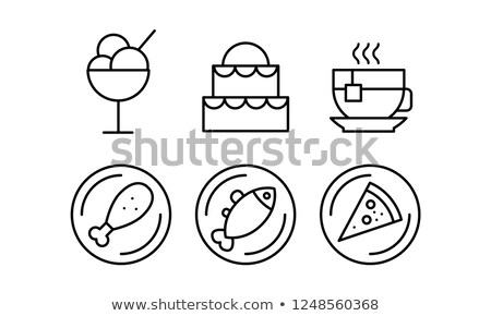 vector icecream in a bowl stock photo © freesoulproduction