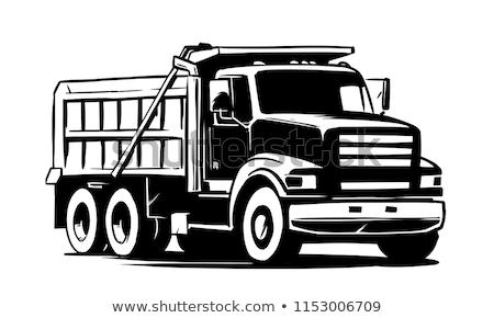 Isolated dump truck. Vector bllustration Stock photo © leonido