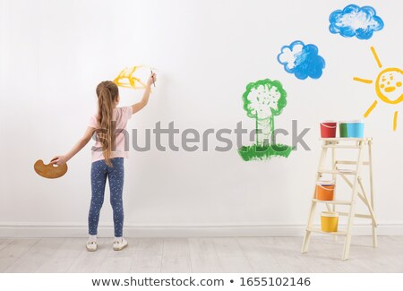 little girl painting at school stock photo © photography33