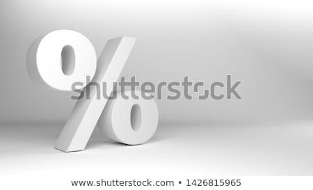 Percent symbol, Metal Stock photo © JohanH