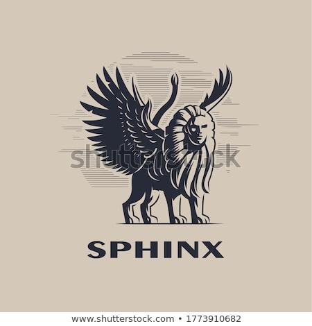 頭 · 大スフィンクス · ギザ · エジプト · 空 · 顔 - ストックフォト © prill