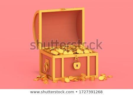 Ancient chest with coins Stock photo © pzaxe