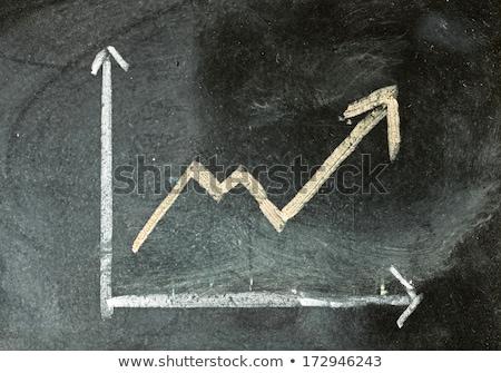 Zdjęcia stock: Wykres · dochód · postęp · Tablica · wzrostu