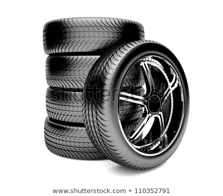 3D · pneu · disco · isolado · branco · carro - foto stock © Nobilior