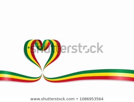 Afbeelding hart vlag Senegal land Stockfoto © perysty