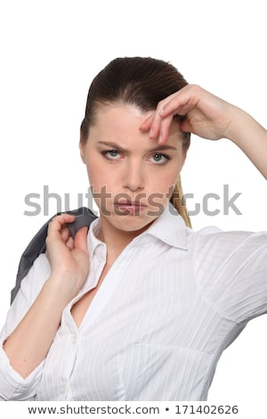 woman seems to be fed up Stock photo © photography33