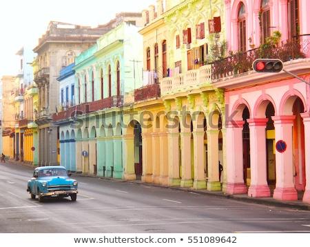 ハバナ 表示 キューバ 市 ウィンドウ 青 ストックフォト © pedrosala