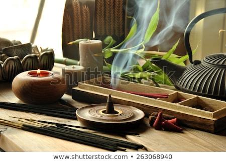 Brandend wierook kaarsen chinese tempel Stockfoto © raywoo
