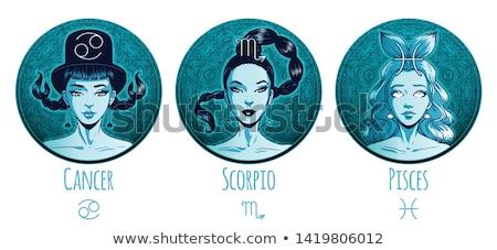 woman scorpio sign for coloring stock photo © izakowski