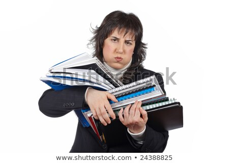 Angry woman clutching papers Stock photo © photography33