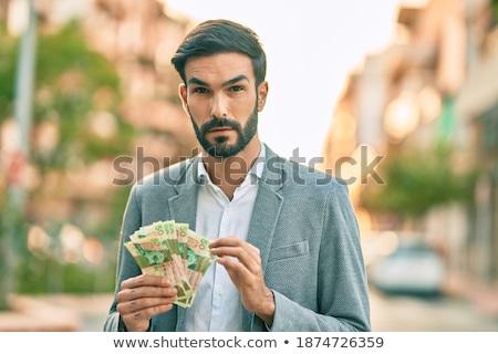 komoly · üzletember · menedzser · dollár · izolált · fehér - stock fotó © wavebreak_media