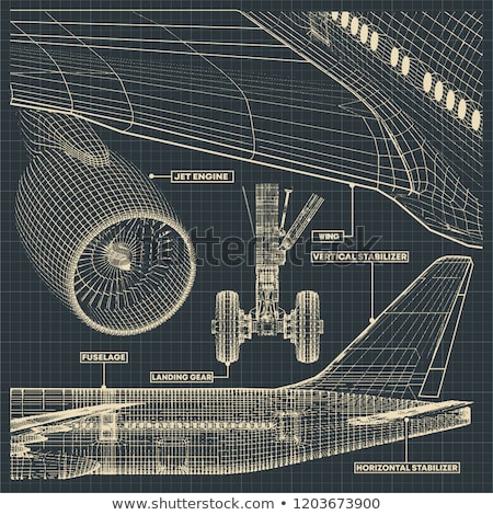 Commercial Aircraft Blueprint Stock photo © nmcandre