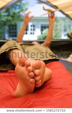 chłopca · namiot · człowiek · podróży · usta · życia - zdjęcia stock © photography33