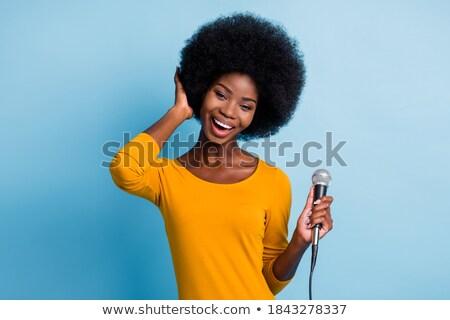 Fryzura portret piękna młodych blond dziewczyna Zdjęcia stock © carlodapino