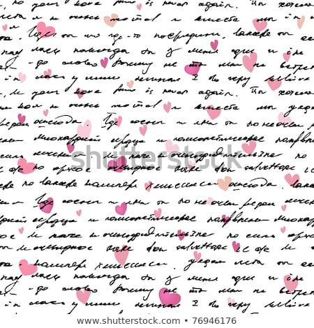 liefde · merkt · ontwerp · Rood · harten · potlood - stockfoto © Kotenko