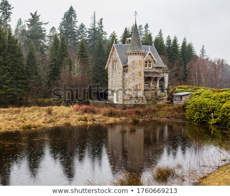 landscape near loch laggan highlands scotland stock photo © phbcz