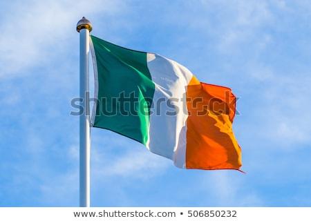 Ierse driekleur vlag republiek Ierland banner Stockfoto © speedfighter
