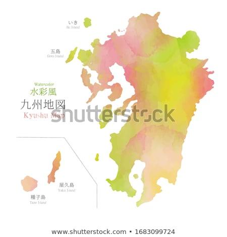 Japonya sözler harita yeşil liste popülerlik Stok fotoğraf © seiksoon