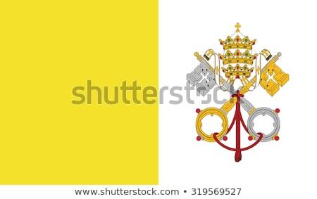 Vatikan bayrak üç boyutlu vermek saten doku Stok fotoğraf © daboost