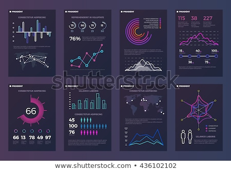 Infographic template for statistic data visualization Stock photo © DavidArts