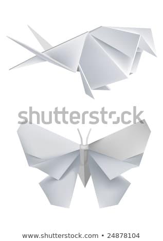 coração · flocos · de · neve · ano · novo · abstrato · natureza · projeto - foto stock © butenkow