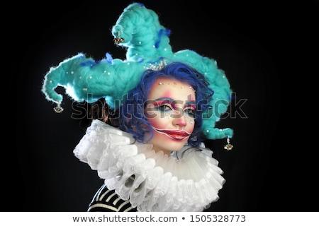 portret · triest · naar · vrouwelijke · clown · vrouw - stockfoto © Pasiphae