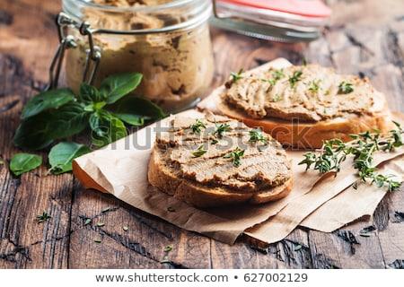bread toast with meat spread stock photo © m-studio