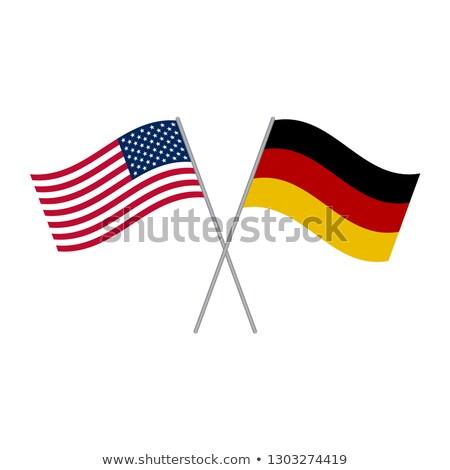Doble nacionalidad americano EUA aislado blanco Foto stock © eldadcarin