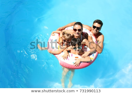 Family at Pool Stock photo © cteconsulting