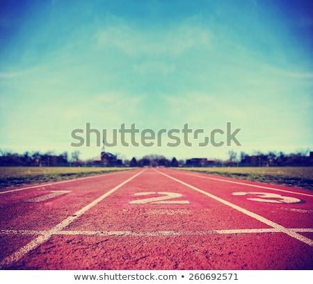 número · três · corrida · seguir · atletismo - foto stock © stevanovicigor