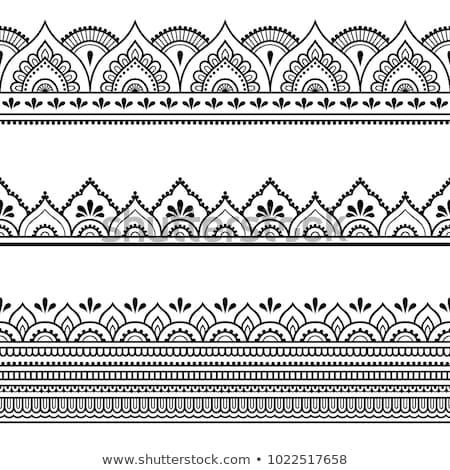 indian · borduurwerk · detail · antieke · ondiep · texturen - stockfoto © Theohrm