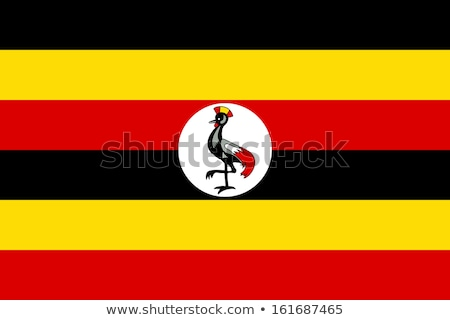 Bandera Uganda sombra blanco fondo negro Foto stock © claudiodivizia