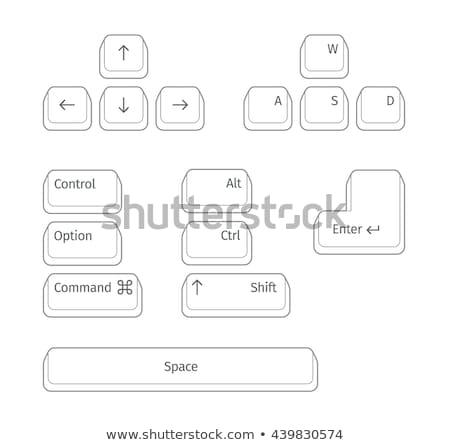 Teclado claves ilustración blanco signo web Foto stock © kitch