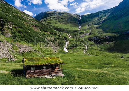 Norwegian mountain cabin Stock photo © Harlekino