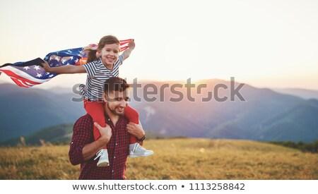 Amerikaanse patriot schoonheid palm sterren Rood Stockfoto © moses