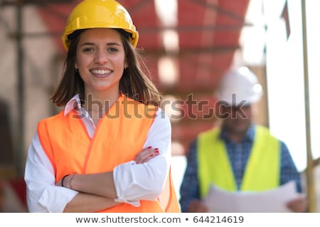 portrait of woman on construction site stock photo © aikon
