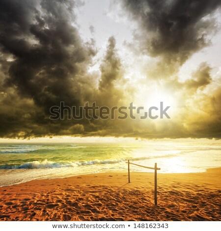 Storm · квадратный · воды · морем · песок · черный - Сток-фото © moses